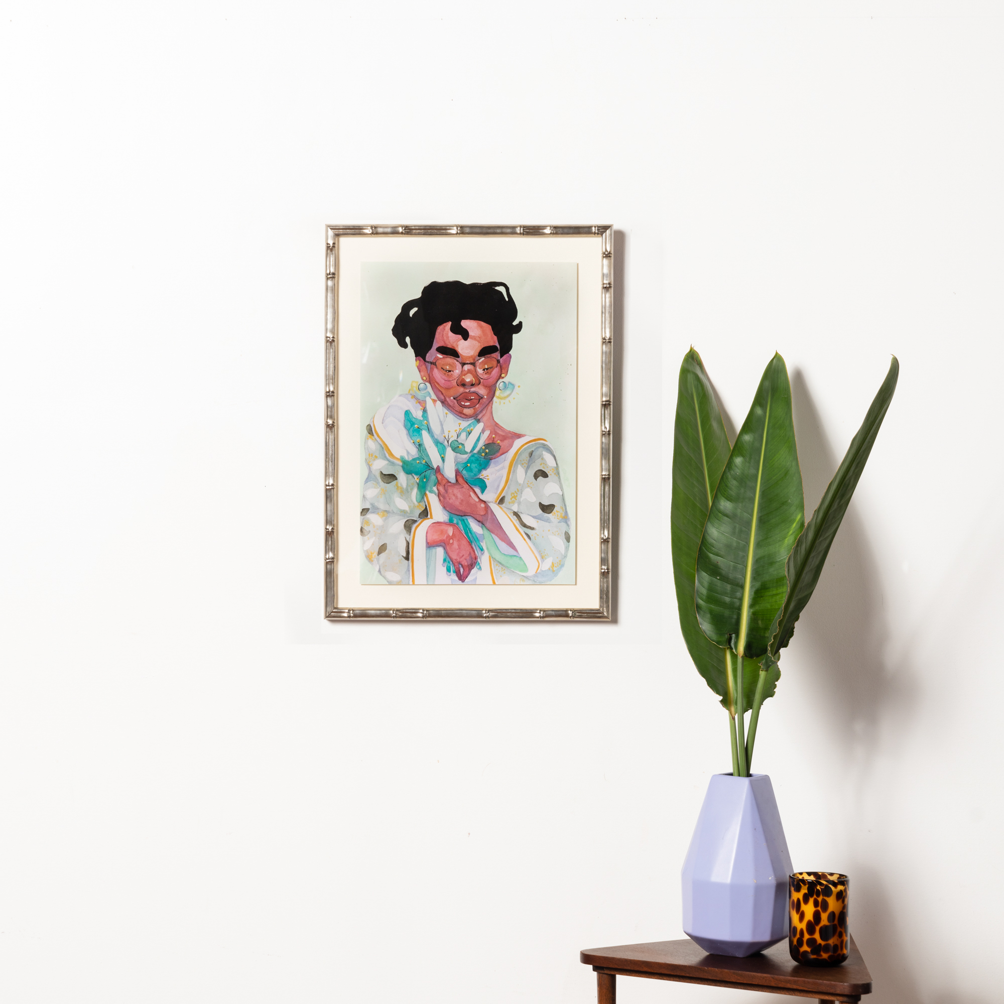 Framebridge Black Artists Print Shop Chiomma Hall Plastic framed print Nassau frame