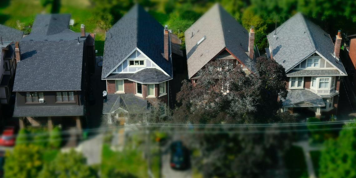 suburban homes that appear miniature
