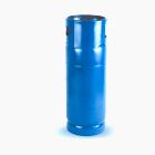 Ilustração de fundo branco com cilindro de gás em azul de 20KG