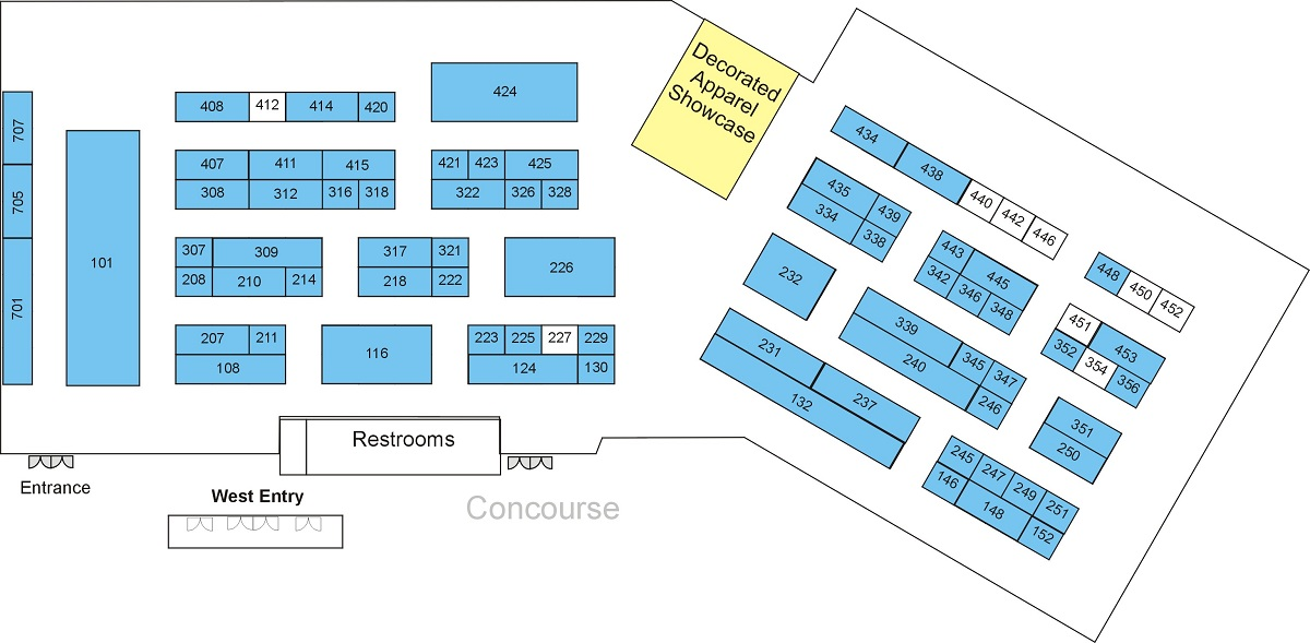 DAX Chicagoland's 2019 trade show floor map