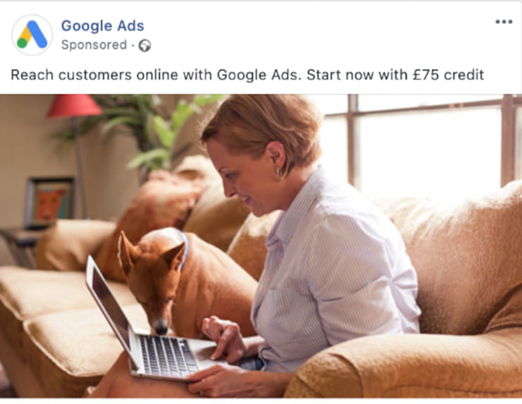 ad with people in picture