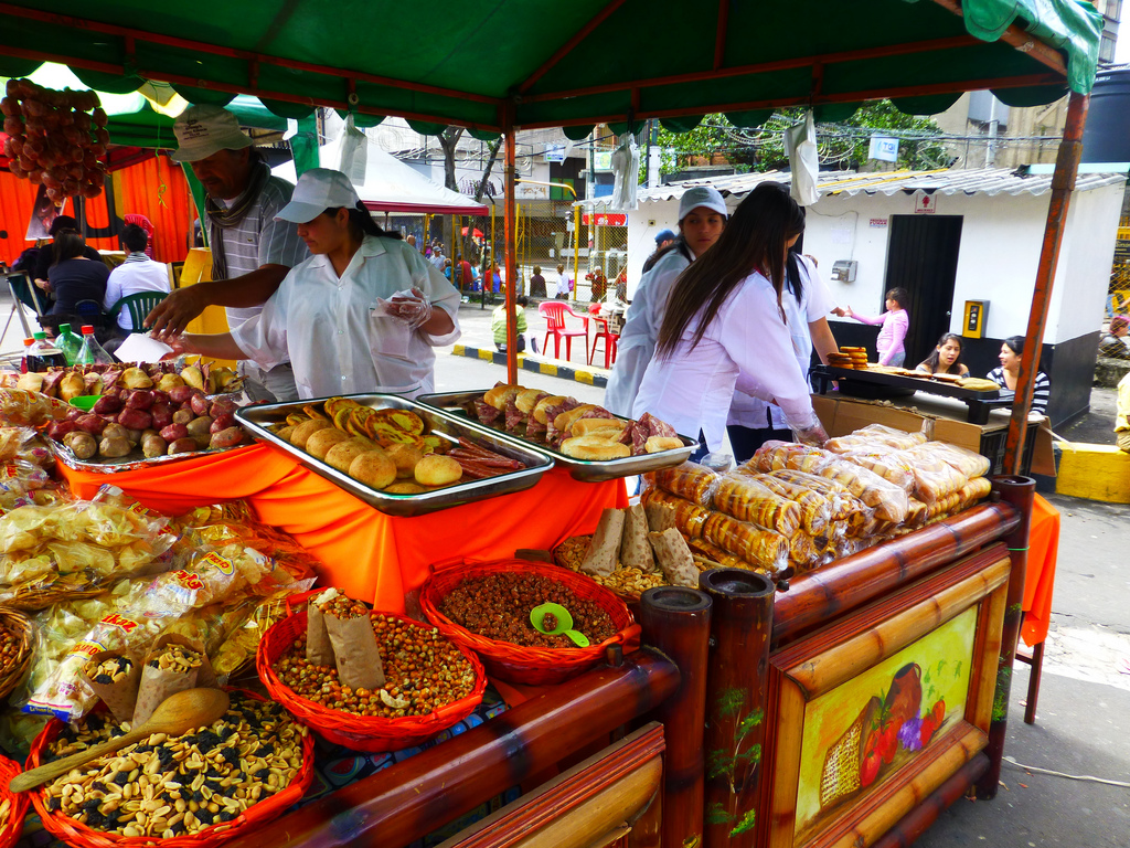 street food unique things to do in Colombia