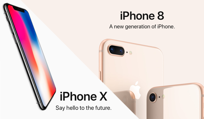 The new Apple iPhone 8/8 Plus and iPhone X