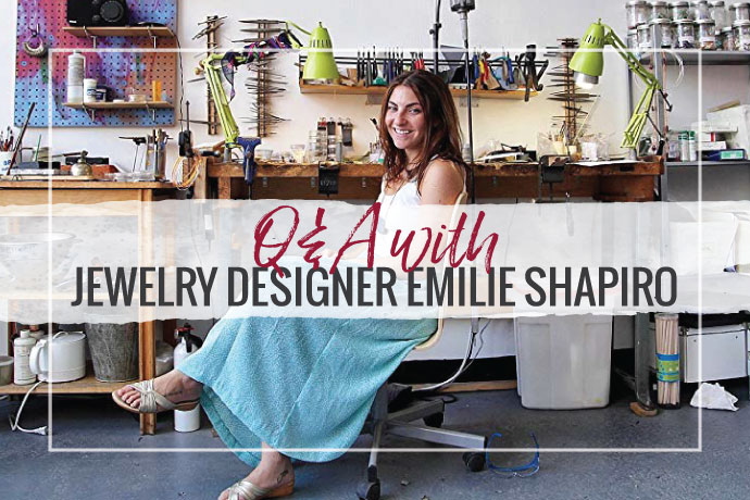 Emilie Shapiro discusses her jewelry business and her new book to help new jewelers in this interview with Hilary Halstead Scott.