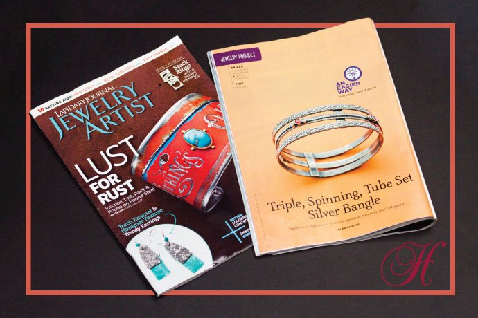 Lapidary Journal Jewelry Artist magazine recently featured a bangle bracelet making project by Halstead Studio Coordinator, Erica Stice.