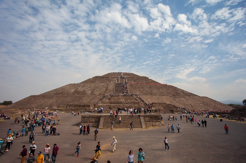 Enrich your Mexico City itinerary by exploring historic sites like the Pyramids of Teotihuacan