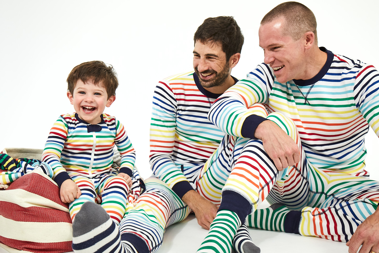 Primary ivory rainbow matching family PJs