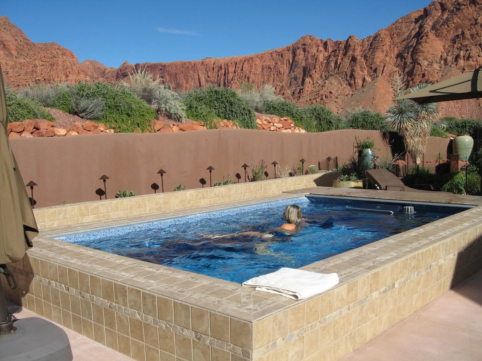 a swimmer in an Endless Pool in Utah