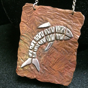 Hammered Fish Pendant