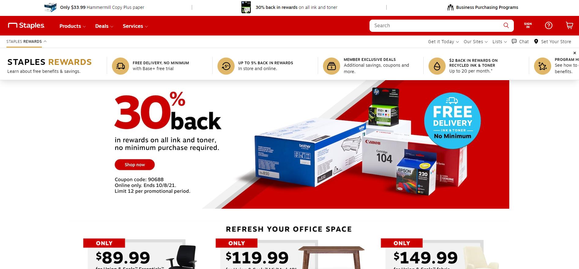 Staples Homepage