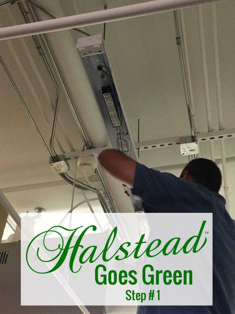 Installing LED lights at Halstead