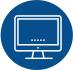 Ícone com o desenho de um monitor de um computador que representa a área de pedidos online