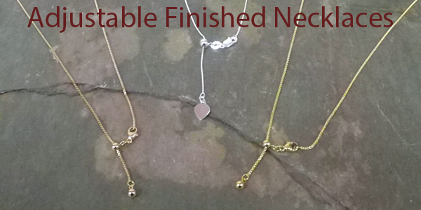 Adjustable finished necklaces