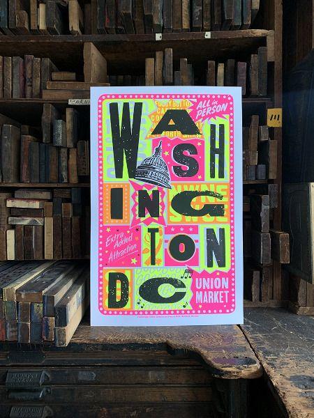 colorful washington dc poster