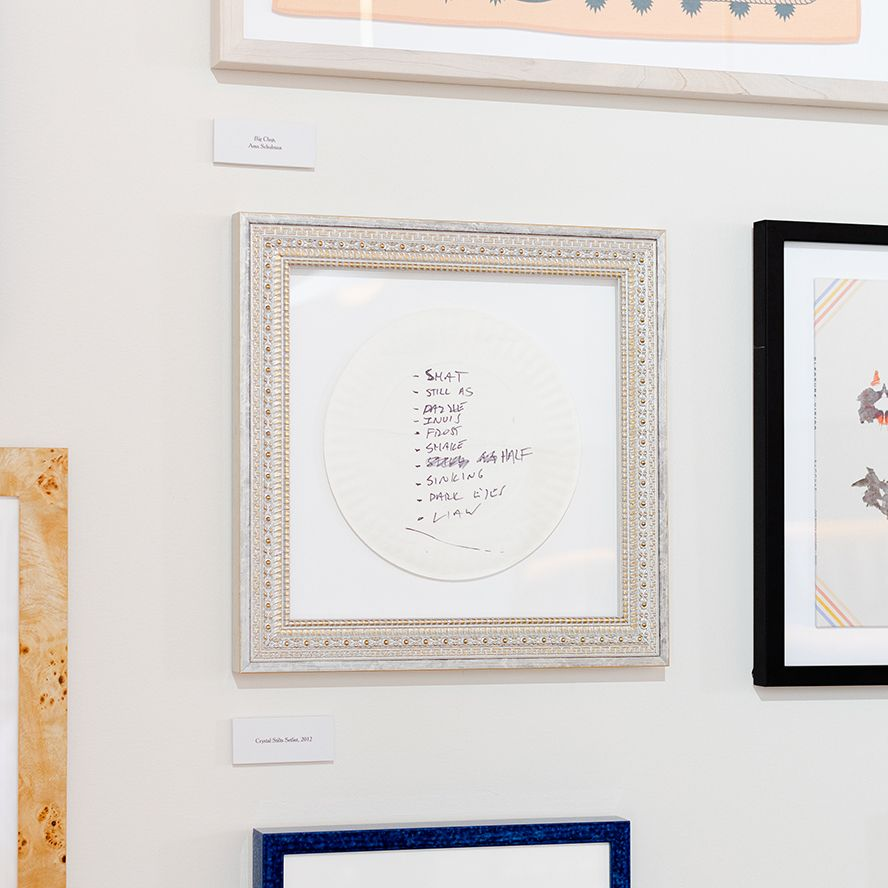 photo of frames in gallery wall