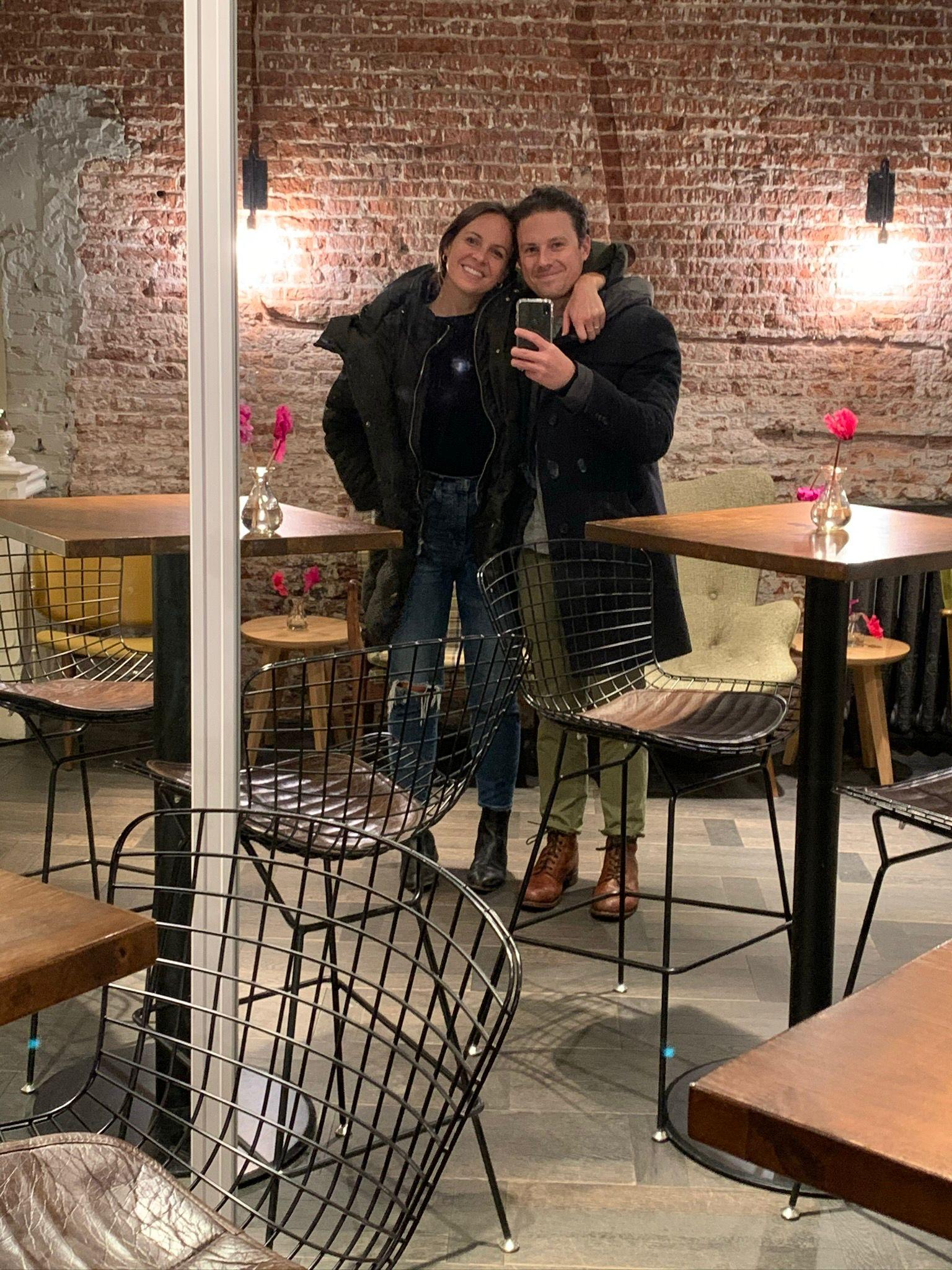 couple mirror selfie