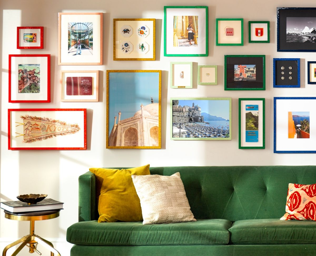 colorful frame gallery wall