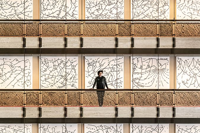 photo of Shantell Martin installation