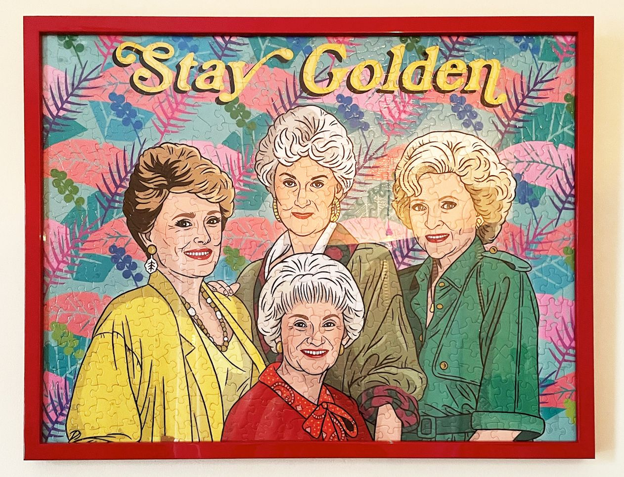 Golden Girls puzzle in red frame