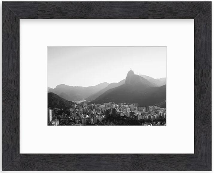 black and white framed photo of rio de janeiro