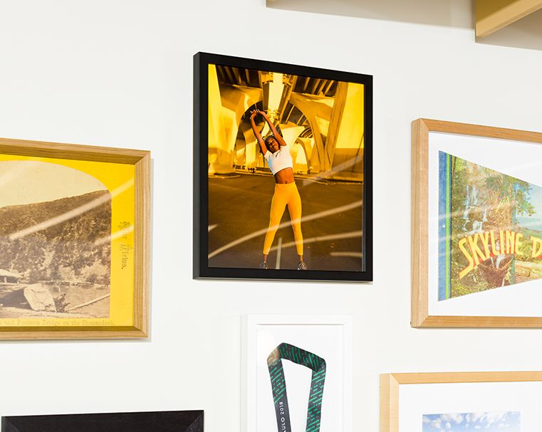 closeup photo of store with gallery wall of frames