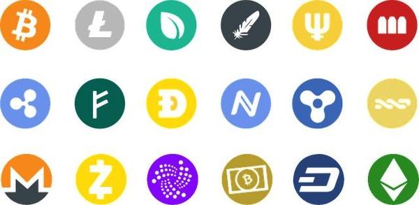 various cryptocurrencies