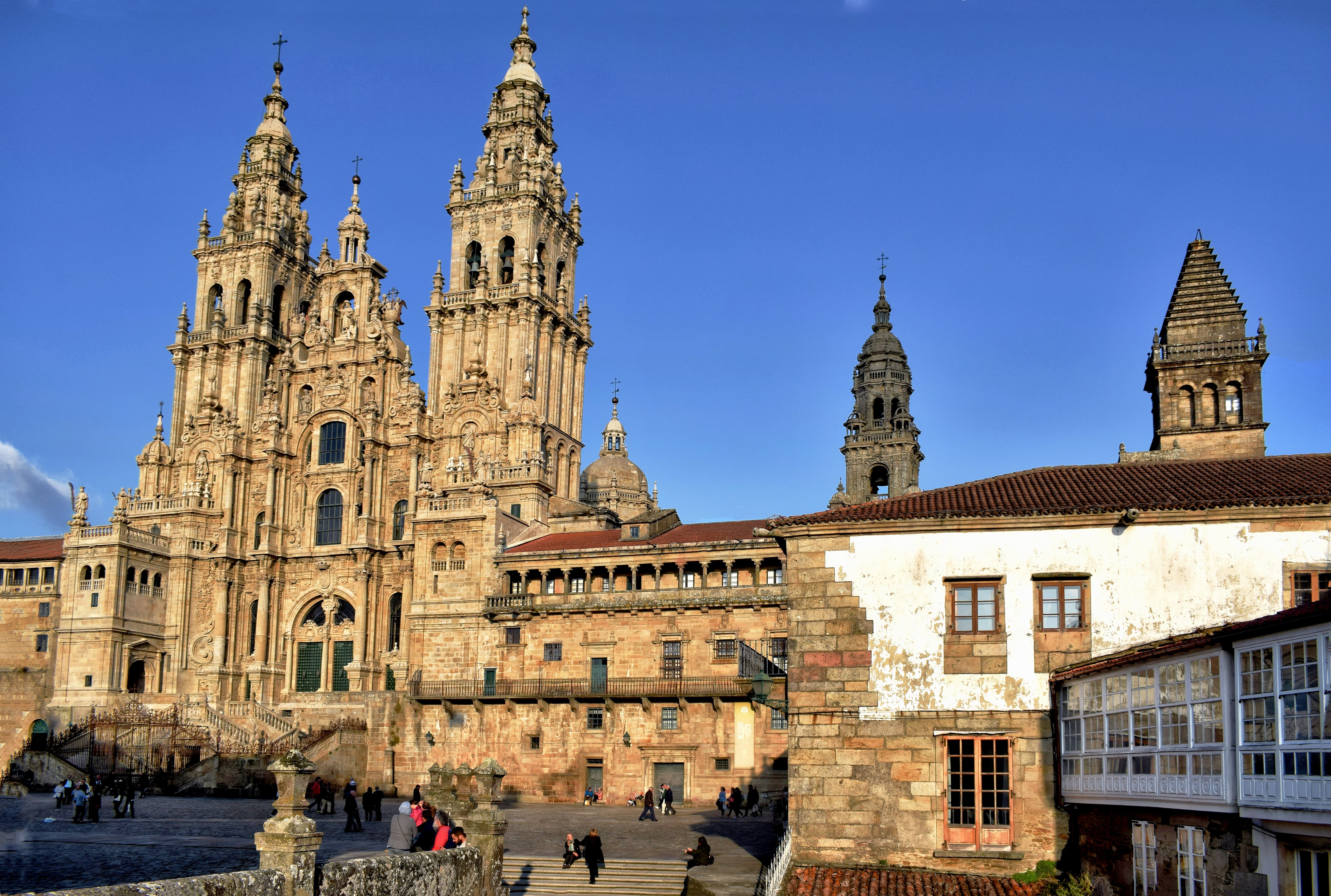Following the path to Santiago de Compostela is a cool thing to do in Spain