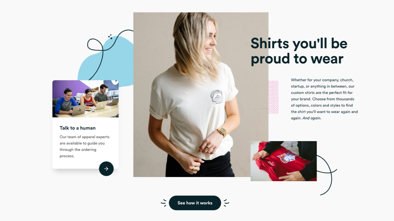 Real thread's print shop website demonstrates why customers will be proud of their t-shirts