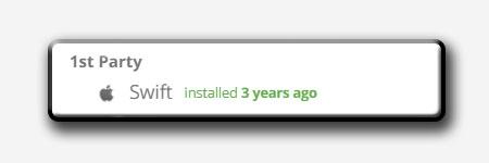 Faceapp installed Swift SDK