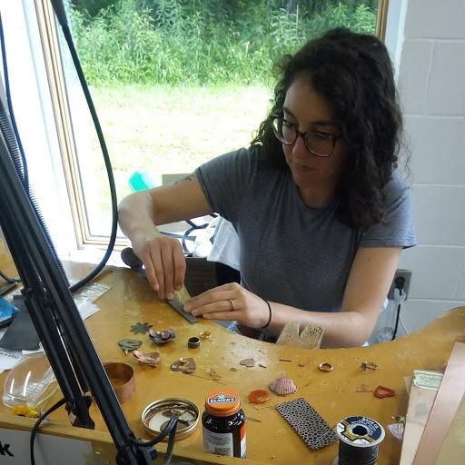 Maia Leppo in studio