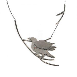 Hidden Window Raven Necklace