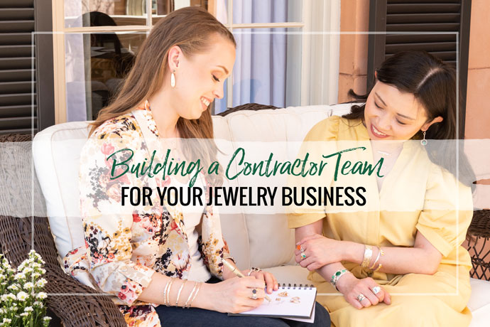 Ready to hire extra help for your jewelry business? Consider a team of independent contractors! Read through Kristen Baird's experience and tips hiring her independent contractor team.