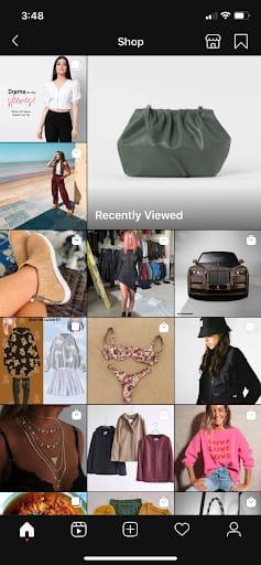 Instagram Explore page