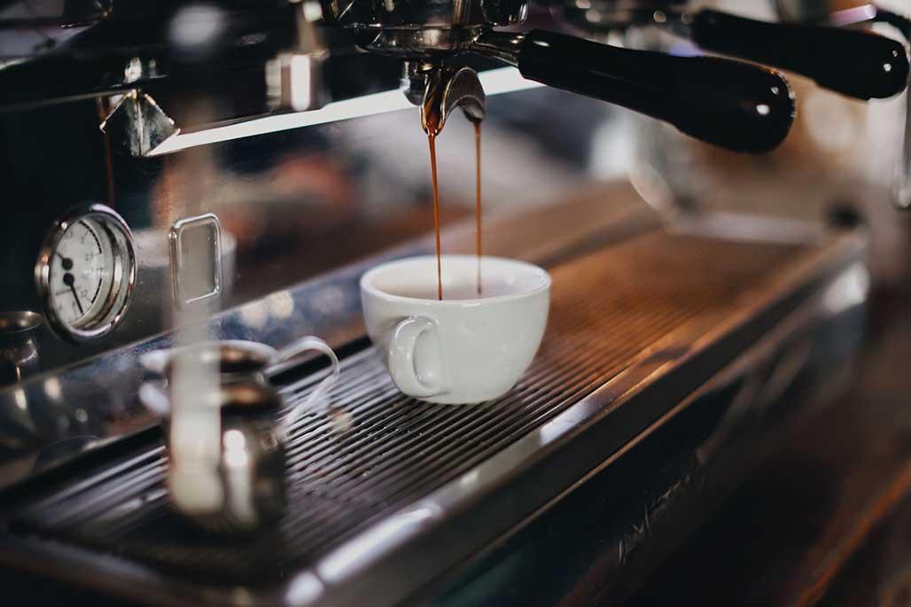 Making Espresso in a Machine