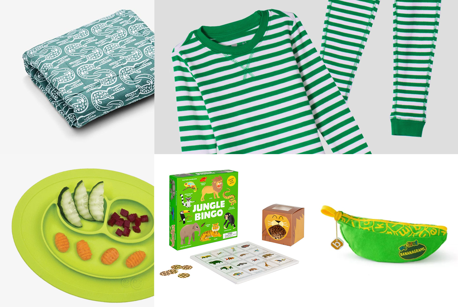 primary grid of green gift items