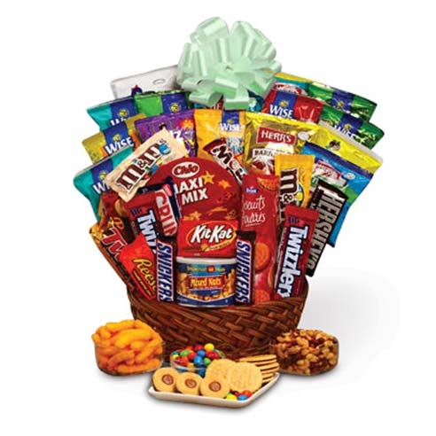 St Patricks Day chocolate candy snacks gift basket