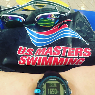 A U.S. Masters Swimming logo swim cap