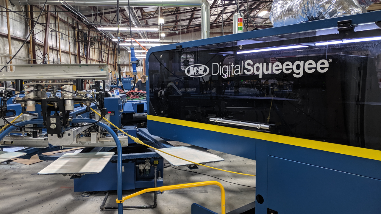 A Digital Squeegee at Same Day Tees