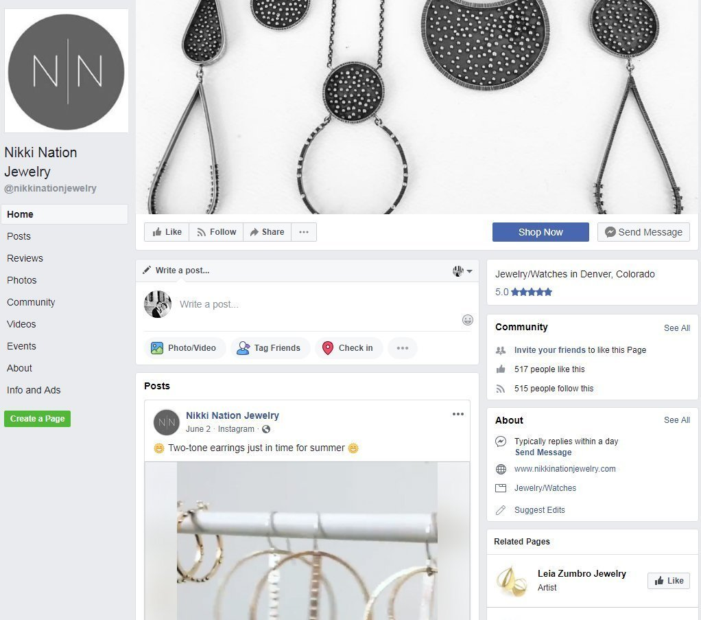 Nikki Nation Jewelry Facebook