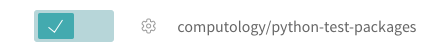 enable github repository on travis