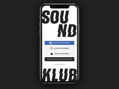 SOUNDKLUB on an Iphone