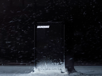 soundboks in the snow