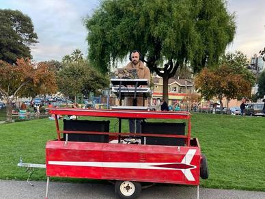 SOUNDBOKS Community Member Gilad DJing