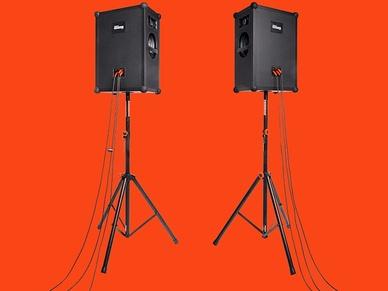 SOUNDBOKS speaker with accessories
