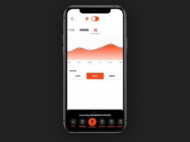 Adjusting the EQ in the SOUNDBOKS App