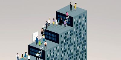Cartoon depiction of the hiring process