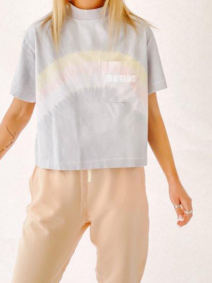 Pastel Tie Dye 90's Crop SS