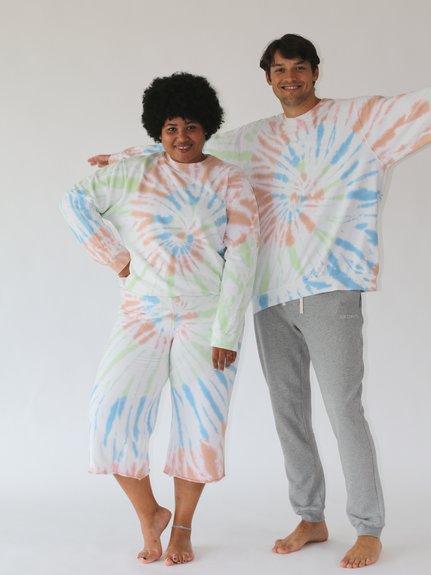 Unisex For Better Days Tie Dye Sweatshirt