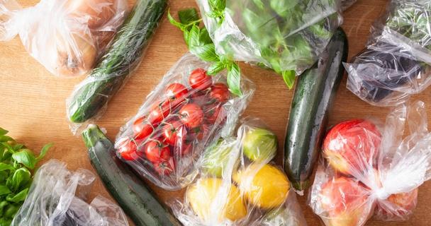 food in plastic packaging