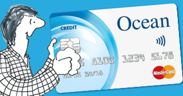 Now you could pay contactless with the Ocean Credit Card